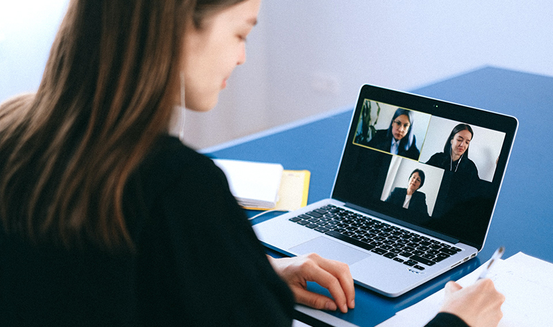 Remote-Scrum-Team-Health-Woman-on-Video-Call-with-Collegues