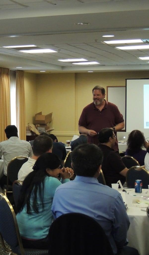 Dan Rawsthorne teaching certified scrum master class