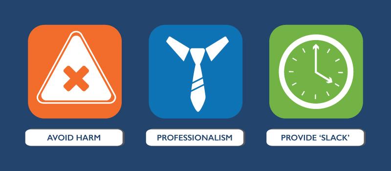 Scrum Values: Avoid Harm, Professionalism and Provide Slack #3Back